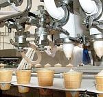 При переработке молочной продукции (масло, мороженое, сливки)